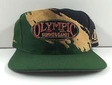 Vintage 1996 Atlanta Olympics Logo Athletic Splash Snapback Hat EXC