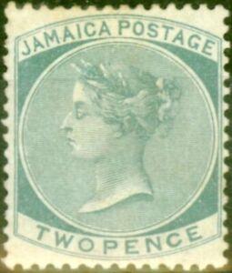 Jamaica 1885 2d Grey SG20 Good Mtd Mint