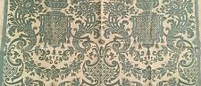 Authentic Mariano FORTUNY Carnavalet Fabric Celadon Green & Beige