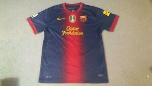 Barcelona 2012 2013 Xavi Nike Jersey Kit Shirt XL