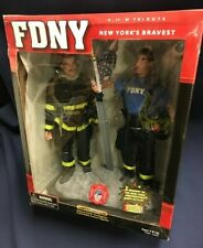 Official FDNY NYPD New York Firefighter Police 9/11 Tribute Action Figure Dolls
