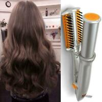 Professional 2-Way Wet To Dry Hot Rotating Iron Hair Brush Curler Straigh
