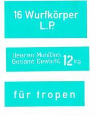 STENCIL SET FOR CASE FOR GERMAN WW2 16 Wurfkörper L.P.  361LP  GRENADE LAUNCHER