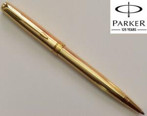 Parker Sonnet Ballpoint Pen Golden Star Gold Trim 0.7mm Blue Refills