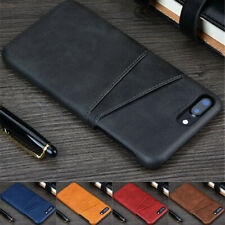 For iPhone 6s 7 8 Plus XR XS Max Wallet Credit Card Slot Leather Back Case Cover