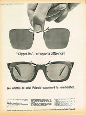 PUBLICITE ADVERTISING 114  1964  POLAROID  lunettes solaires à clip       151114