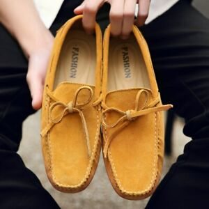 Men Shoes Leather Casual Shoes Mens Loafers Shoes Slip On Men's Flats Shoes