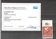 H19795 Berlin  Mi. Nr. 67 OR ndgz.  Postfrisch  Befund BPP