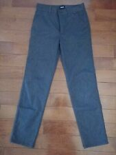 Vans Boys Gray Dress Pants Size 12 Flat Front