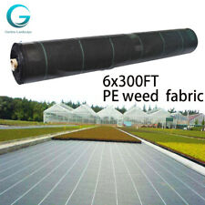 Black Pe Woven Landscape Fabric Weed Barrier 6 Ft X 300 Ft
