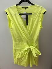 Cynthia Steffe Neon Green/Yellow Wrap Dress, Size 8 NWT