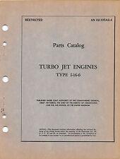 1945 I-16 Turbojet Aircraft Engine Parts Catalog Flight Manual  -  CD