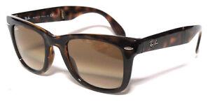 RAY BAN 4105 54 Wayfarer Folding 710/51 Havana Brown Shaded Lenses Sun Sole