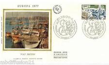 1977//ENVELOPPE SOIE**FDC 1°JOUR**EUROPA-PORT BRETON-EUROPA**TIMBRE Y/T 1929