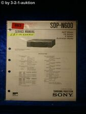 Sony Service Manual SDP N600 Surround Processor (#0863)