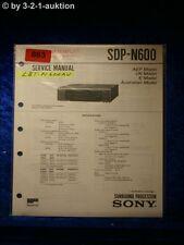 Sony Service Manual SDP N600 Surround Processor (#0863)