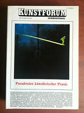 Kunstforum International Bd 76 November/Dezember 1984 Paradoxien