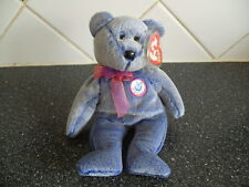 TY Beanie Baby Bear Periwinkle le e-BEANIE-Comme neuf-retraite
