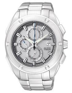 CITIZEN Eco-Drive Titanium CA0210-51A Solar Mens Watch Chronograph RRP $799.00
