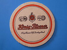 Beer Collectible Coaster ~*~ KONIG-PILSENER ~ König-Brauerei, Duisburg, GERMANY
