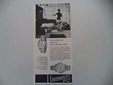 advertising Pubblicità 1960 OROLOGIO EBERHARD SCAFODAT e STEAMER