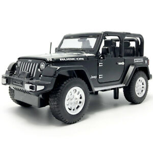1/32 Jeep Rubicon 1941 SUV Model Car Diecast Toy Vehicle Pull Back Gift Black