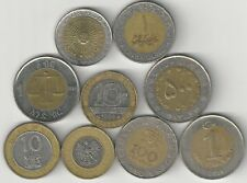 9 BI-METAL COINS from 9 DIFFERENT COUNTRIES (ARGENTINA to TURKEY)
