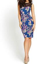 Cotton Blend Plus Size Floral Party Dresses for Women