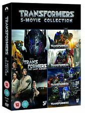 TRANSFORMERS 1-5 Box Set Complete Movies 1 2 3 4 5 Collection DVD NEW UK Not US
