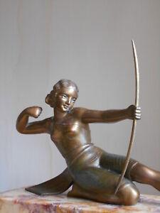 Ancienne Sculpture Statue Art Deco  -  S.Melani