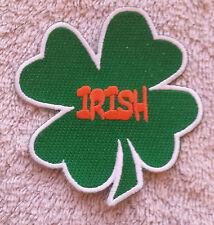 "IRISH SHAMROCK PATCH 3"" Cloth Badge/Emblem/Insignia Biker Jacket Bag Iron Sew"