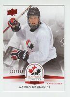 (56074) 2014-15 UPPER DECK TEAM CANADA JUNIORS RED SP AARON EKBLAD #98 (112/199)