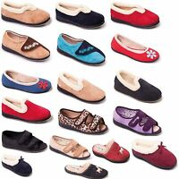 Womens Ladies Padders Slippers Slip On Mule BEIGE NAVY RED SIZE 3 4 5 6 7 8 9 UK