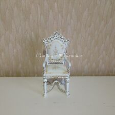 1:12 Dollhouse Miniature Furniture Handcrafted White Chair Versailles Bedroom