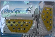 MAXSPEED UNIVERSAL PEDAL COVER 06-557AY SILVER/YELLOW AUTOMATIC 2PCS/SET