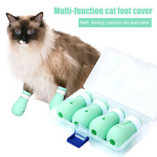 Anti-scratch Cat Shoes 4PCS/Set Grooming Bag Pet Paw Protector for Bathing Z5P6