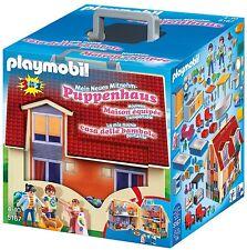 Puppenhaus Playmobil Geschenk Mädchen Puppen Spiel Spielzeugfiguren Mitnehmen