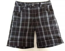 Women's Sz 4 Quagmire Black Plaid Polyester/Spandex Golf Shorts