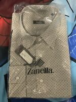 Zanella Designer Shirt NWT - XXLARGE - Retail $219... SALE $69.95 Made in Italy