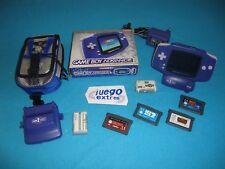 Consola Nintendo Gameboy Advance Completa PAL España Funda Lupa Bateria 4 Juegos