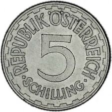 AUSTRIA coin 5 Schilling 1952 aUNC