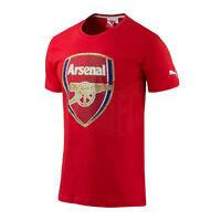 Arsenal FC Puma mens red cotton crew neck football fan training t shirt  2014-15