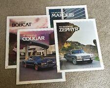 1979 Mercury Cougar Zephyr Bobcat Marquis Brochures Catalogue Advertisemtent