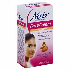 Nair Hair Remover Moisturizing Face Cream with Sweet Almond Oil, 2 oz, 1 Pack