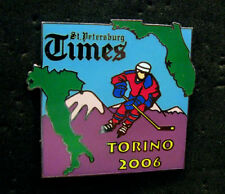 Torino 2006 Olympic St. Petersburg Hockey newspaper media pin