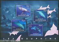 CENTRAL AFRICA  2014   DOLPHINS  SHEET II    MINT NH