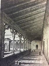 Cloitre du Monastir del Camp première moitié XIXe Pyrénées- Orientales