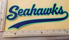 """HUGE SEATTLE SEAHAWKS IRON-ON PATCH  5"""" x 10.5"""""""