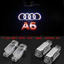 Audi A6 2X LED HD Logo Projector Emblem Ghost Shadow Light Door Welcome Lights