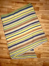 Girasol Babywearing Wrap Cotton Thick Rainbow Stripe Blue Green Sz 5 EUC #303